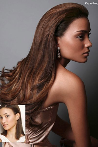 extension cheveux long lisses