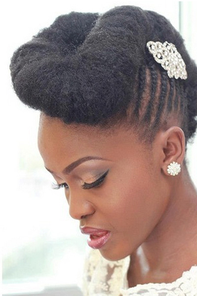 coiffure mariage cheveux afros
